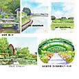 醒ヶ井・田園風景水彩画・モネの庭・浜名湖ガーデンパーク