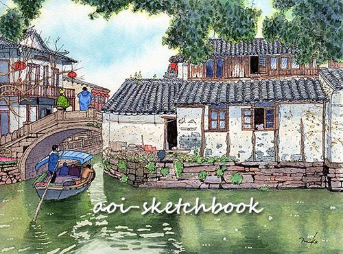 中国 周荘の運河